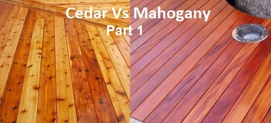 cedar vs mahogany part 1