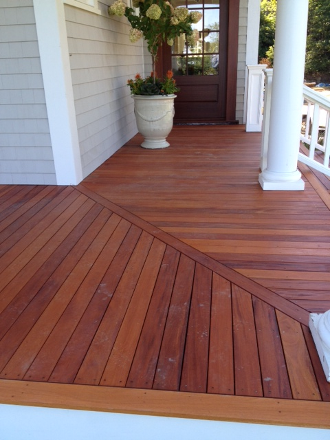 Mahogany decking porch ontario canada green world lumber