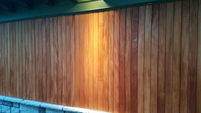 Mahogany tongue and groove siding with clear oil supplier green world lumber