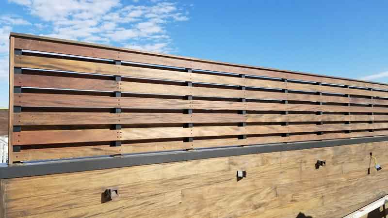 Mahogany wood Privacy Screen Green World Lumber