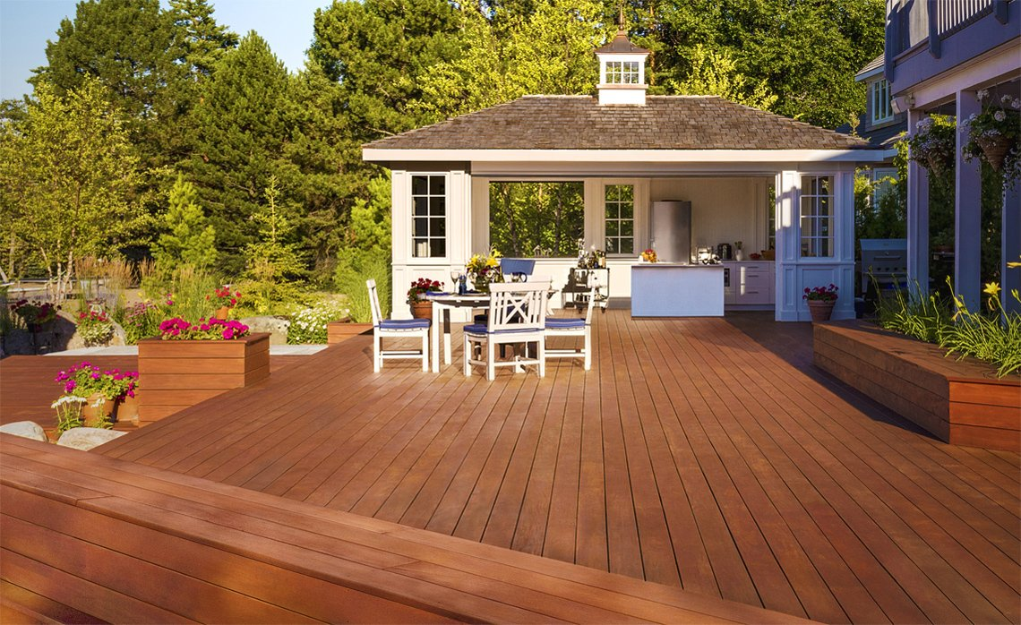 Mahogany hardwood decking